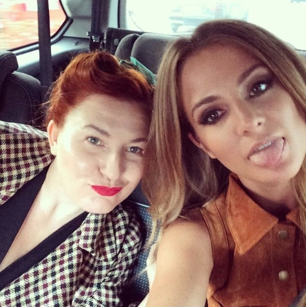 Millie Mackintosh and her make-up artist Justine Jenkins, Instagram 8th September 2015