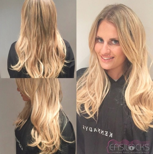 Danielle Armstrong shares picture of her Easilocks hair, 11th September 2015