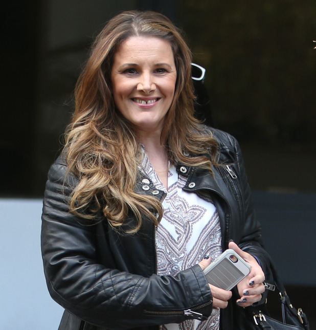 Sam Bailey outside ITV Studios today - 22 June 2015.