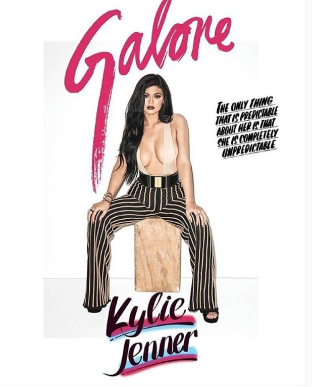 Kylie Jenner poses for Galore magazine in a shoot curated by Terry Richardson, front cover shot 9th September 2015