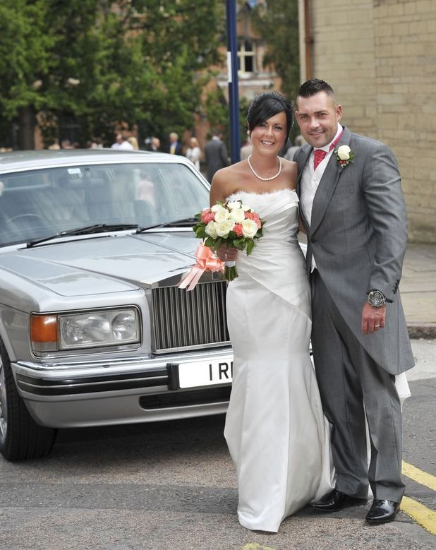 Our luckiest year ever - Rebecca and Dale on their wedding day