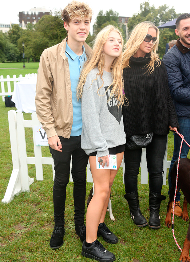 PupAid Puppy Farm Awareness Day 2015 held on Primrose Hill Anais Gallagher and Reece Bibby 5 September 2015