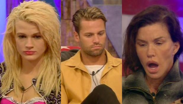 Celebrity Big Brother: UK vs USA' TV show, Elstree Studios, Hertfordshire, Britain - 05 Sep 2015 James, Janice, Chloe break the nomination rules