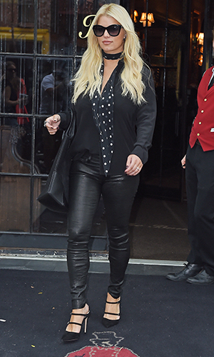 Jessica Simpson is seen on September 10, 2015 in New York City. (Photo by NCP/Star Max/GC Images)