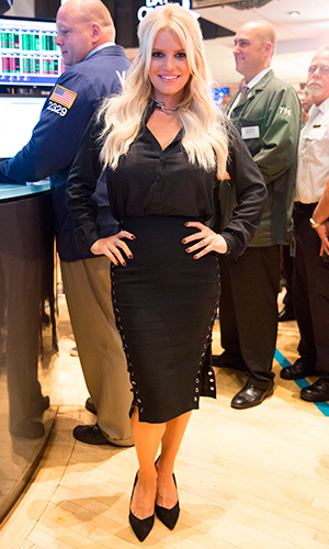 Jessica Simpson and Macy's ring the NYSE opening bell to highlight the 10th Anniversary of The Jessica Simpson Collection and Macy's Presents Fashion's Front Row