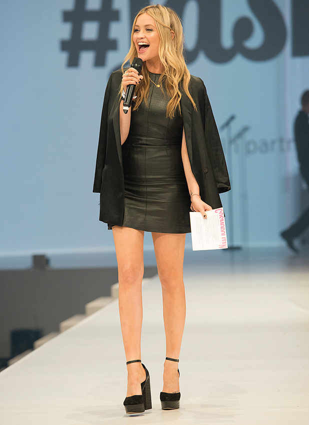 Laura Whitmore hosting the Cosmo Fashfest