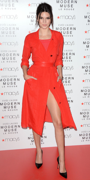 Kendall Jenner attends the launch of the new Estee Lauder fragrance 'Modern Muse Le Rouge' at Macy's, 18 September 2015