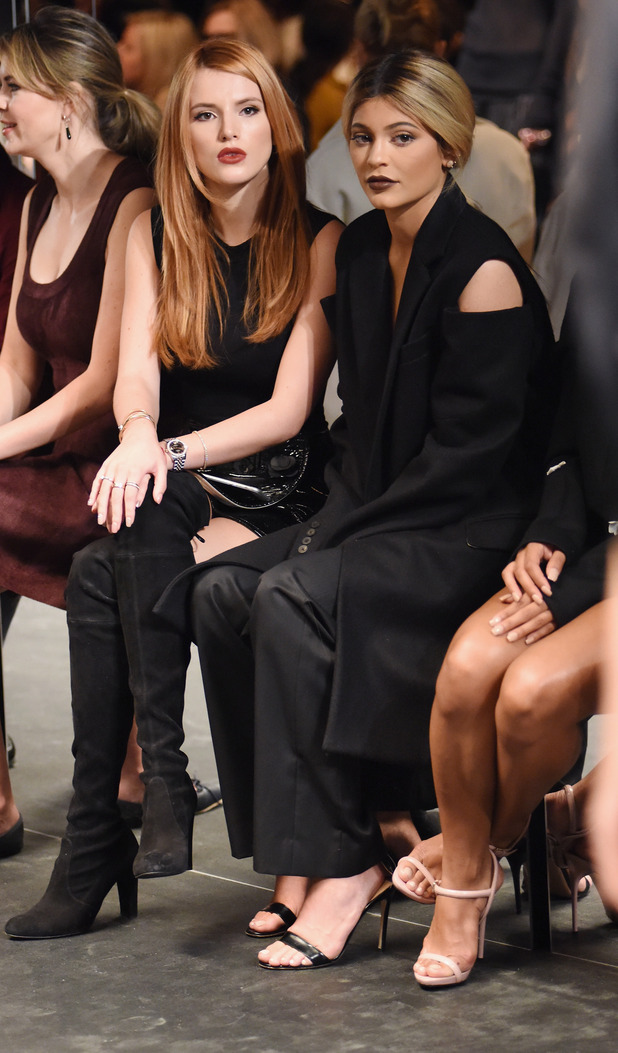Kylie Jenner and Bella Thorne on the Front Row at Vera Wang, New York Fashion Week, 16th September 2015