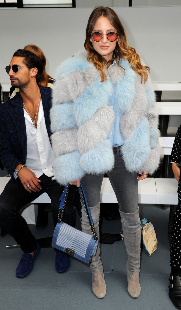 Rosie Fortescue at the Bora Aksa show at London Fashion Week 18th September 2015