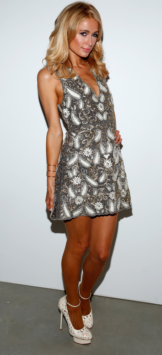 Paris Hilton at Alice + Olivia catwalk show at New York Fashion Week in New York, 17th September