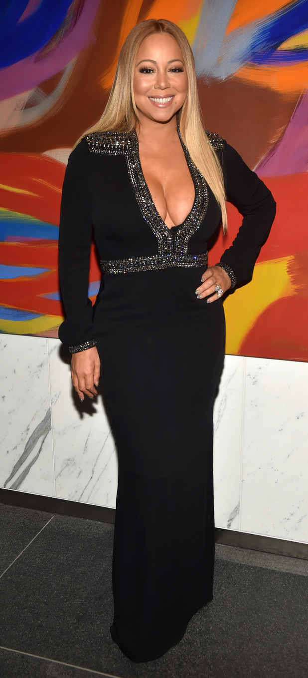 Mariah Carey poses in plunging dress at New York Fashion Week W Magazine Model Search Party, 15th September 2015