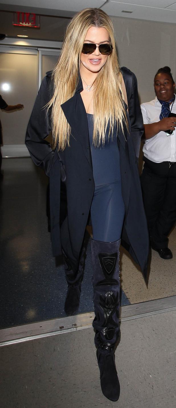 Khloe Kardashian arrives in New York for New York Fashion Week, 14th September 2015