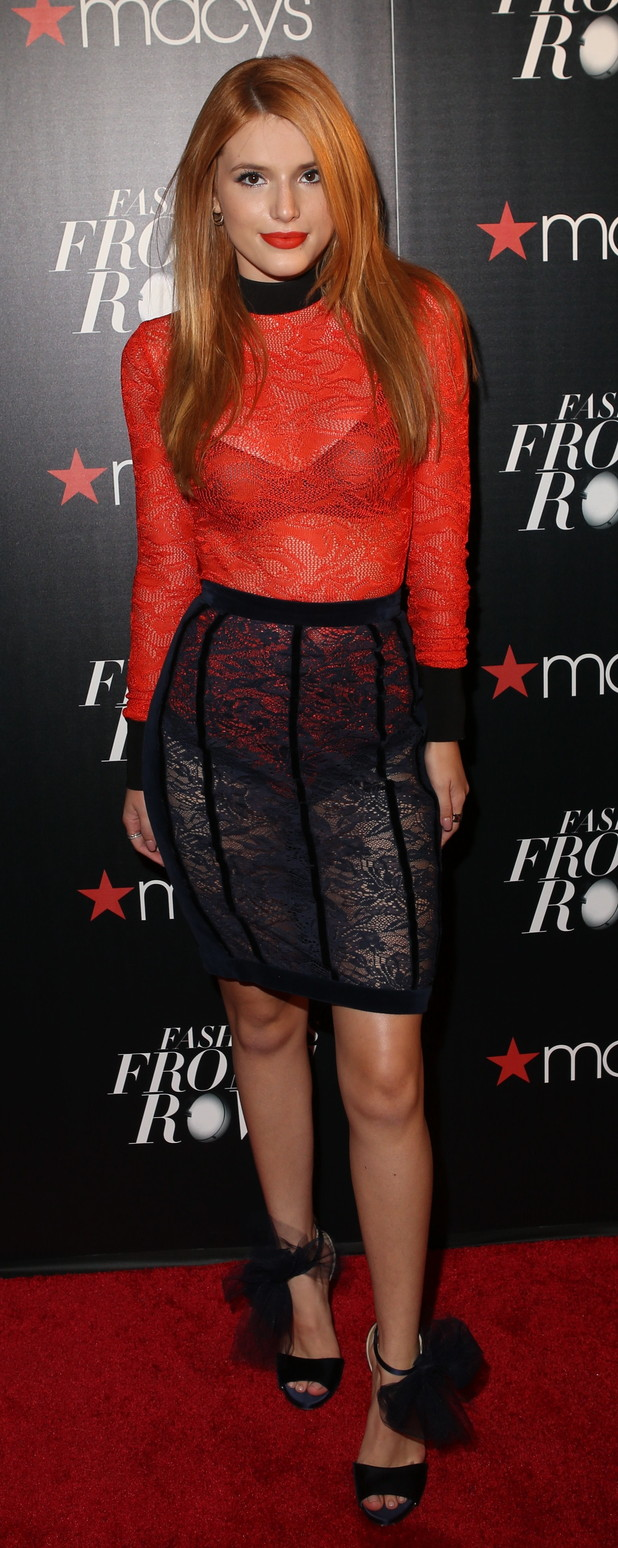 Bella Thorne at the Macy's Presents Fashion's Front Row event in New York, 18th September 2015