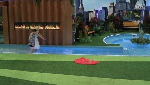 CBB: Chloe and Stevi jump in pool to celebrate avoiding eviction