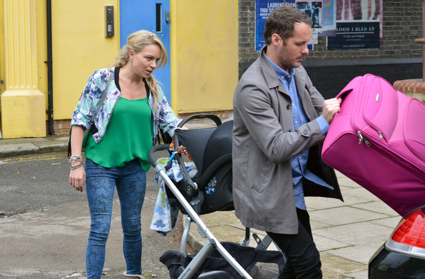 EastEnders, Roxy and Charlie prepare to leave, Mon 21 Sep