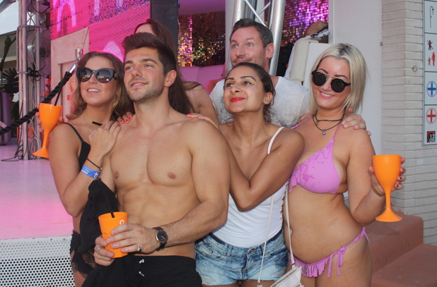 Alex Mytton and Dean Gaffney at Ocean Beach Ibiza 15 September