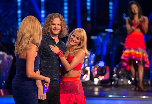 The Wanted's Jay McGuiness with dance partner Aliona Vilani on Strictly Come Dancing's launch show - 10 September 2015.