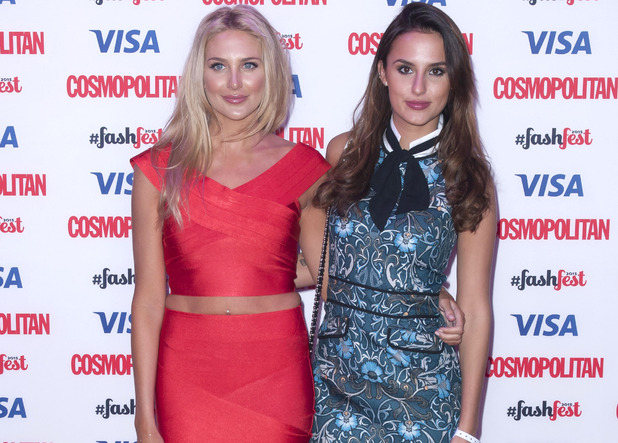 Stephanie Pratt and Lucy Watson attend Cosmopolitan's FashFest event, London 17 September