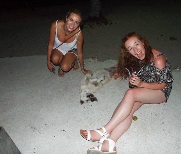 Kathryn and Siobhan on Baan Tai Beach, Koh Phangan, Thailand. 14/9/15