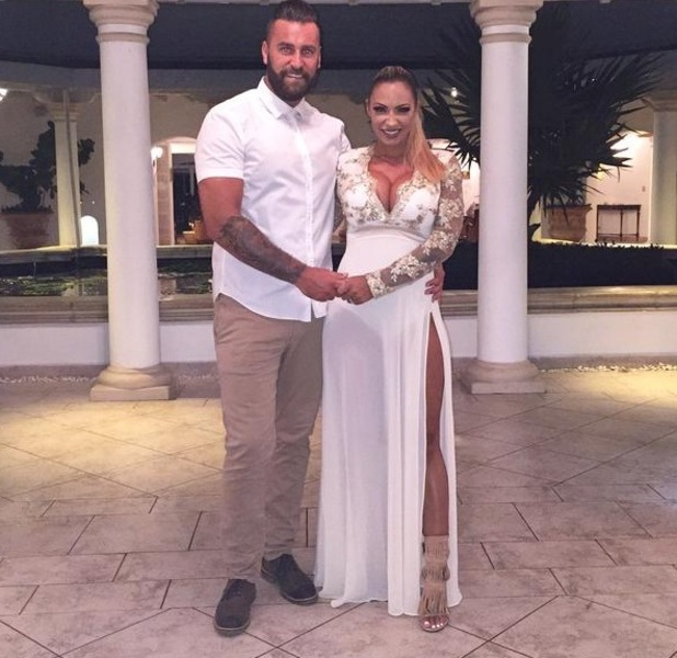 Jodie Marsh and husband James Placido on honeymoon, Barbados 16 September