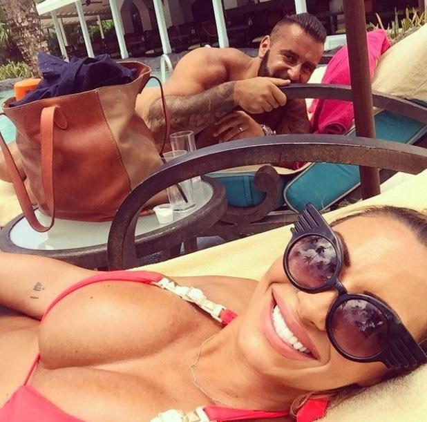Jodie Marsh and husband James Placido on honeymoon, Barbados 16 September