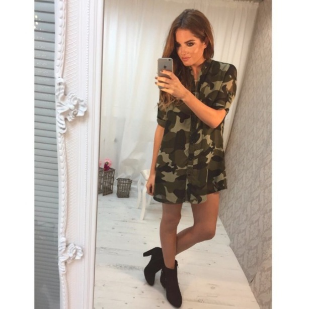 Binky Felstead shows off new clothin collection on Instagram 18th September 2015