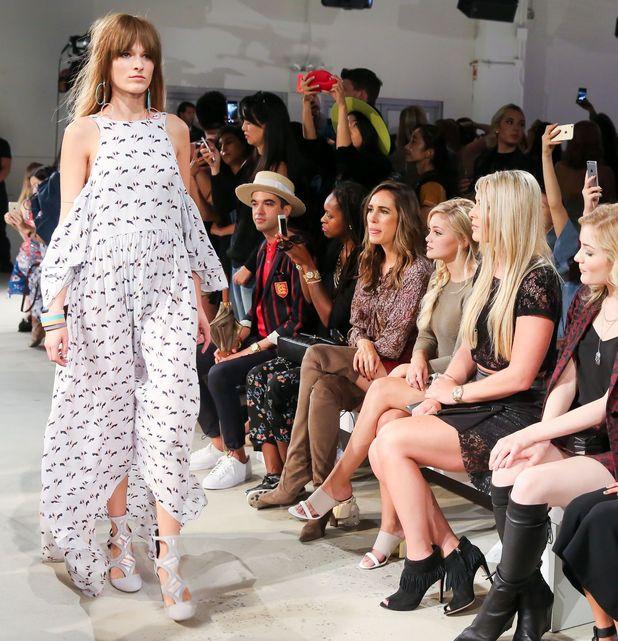 Rebecca Minkoff show, Spring Summer 2016, New York Fashion Week, America - 12 Sep 2015 Olivia Holt, Lindsey Vonn, Skyler Samuels, Jamie Chung, Jaime King, Louise Roe