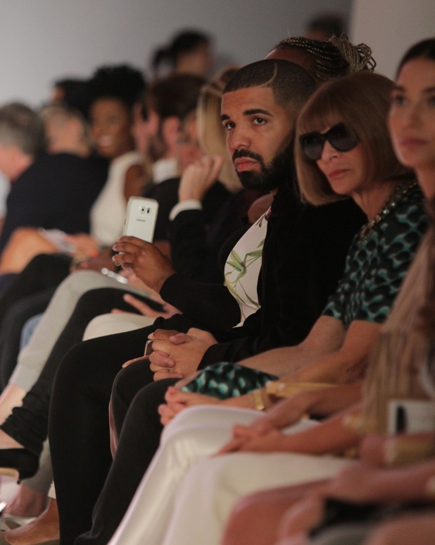 Drake and Anna Wintour at the Serena Williams Signature Collection show in New York, 16th September 2015