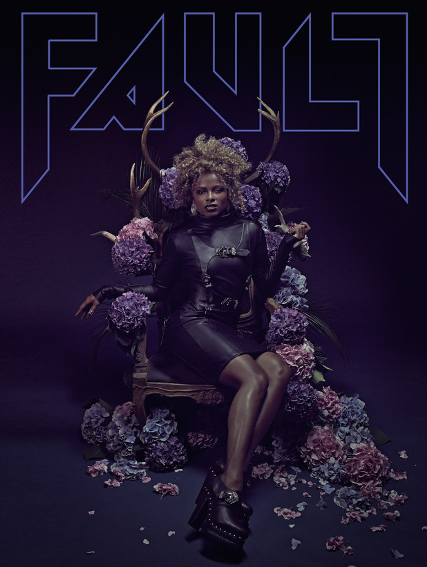 X Factor star Fleur East looking fierce on the new cover of hip style magazine FAULT. 16 September 2015.