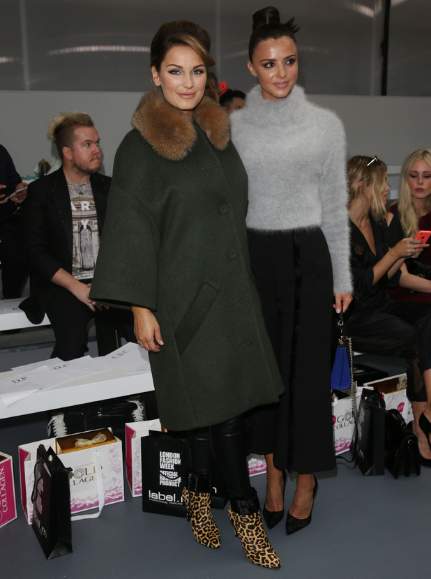 Pregnant Sam Faiers and Lucy Mecklenburgh on front row of Jean-Pierre Braganza show at London Fashion Week, 18 September 2015.