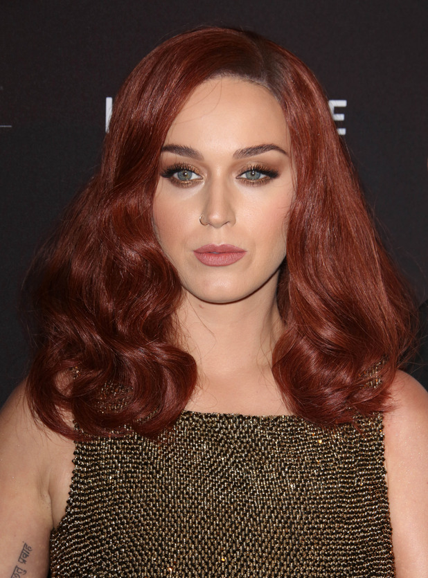 Katy Perry shows of new red hair at Harper's Bazaar event in New York, 17th September 2015
