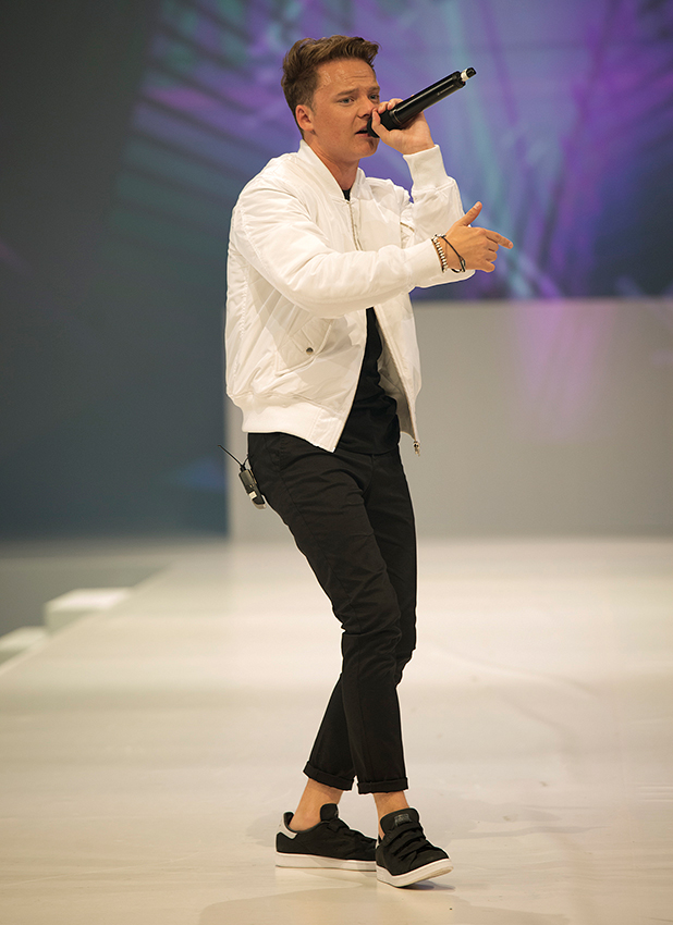 Conor Maynard performing at the Cosmo FashFest