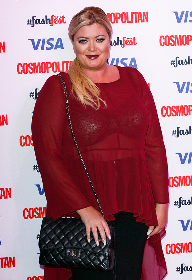 Gemma Collins attends the Catwalk to Cosmopolitan fashion show as part of the Cosmopolitan FashFest at Battersea Evolution on September 17, 2015 in London, England.