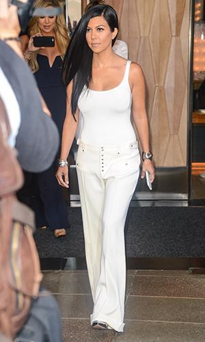 Kourtney Kardashian leaves Soho hotel on September 14, 2015 in New York City. (Photo by Ray Tamarra/GC Images)