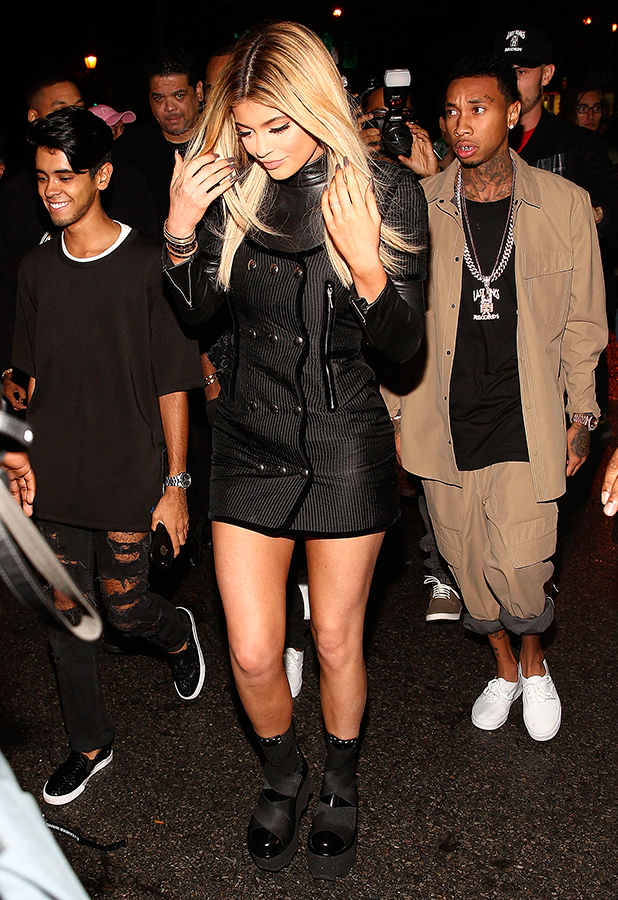 Kylie Jenner and Tyga are seen around Spring 2016 New York Fashion Week on September 12, 2015 in New York City.