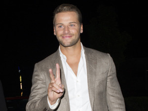 Celebrity Big Brother winner James Hill arrives at the after party at the Village Hotel in London. 25 September 2015.