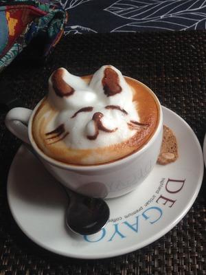 Coffee art in George Town, Penang, Malaysia. 24/9/15