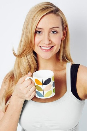 Catherine Tydesley 'raises a mug' in support of Macmillan's World's Biggest Coffee Morning fundraiser, which turns 25 this year and will be taking place on Friday September 25th 2015
