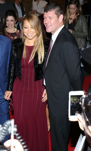 """Mariah Carey and James Packer at The Intern"""" New York Premiere - Red Carpet Arrivals - 21 September 2015."""