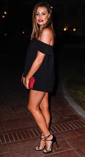 Jessica Wright celebrates her mum Carol's 55th Birthday in Marbella - 21 September 2015.