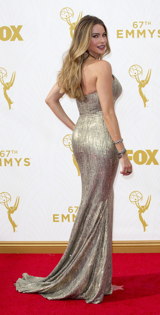 Sofia Vergara on the red carpet at the 67th Primetime Annual Emmy Awards, 21st September 2015