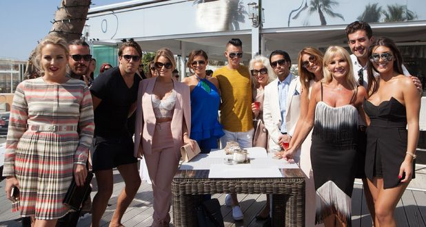 TOWIE cast pose for a group photo in Marbella - 24 September 2015.