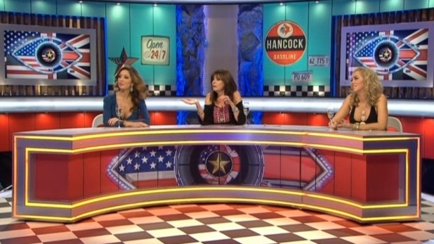 Vicki Michelle, Aisleyne Horgan-Wallace, Farrah Abraham on Celebrity Big Brother's Bit On The Side - 22 September 2015.