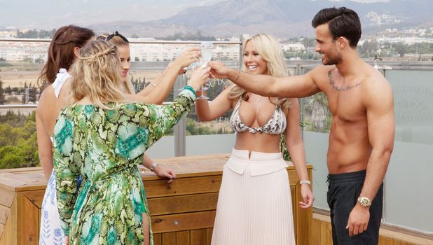 Kate Wright with TOWIE cast in Marbella 22 September
