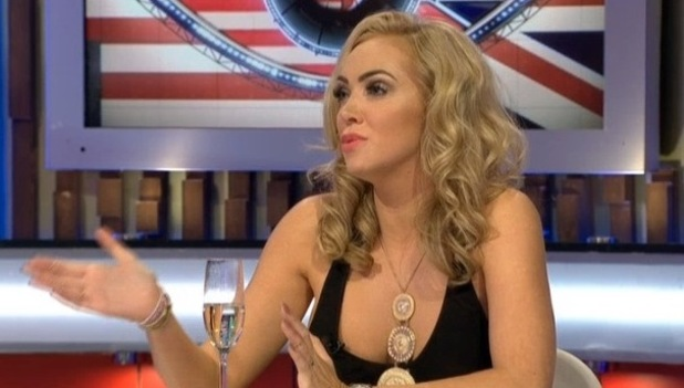 Aisleyne Horgan-Wallace on Celebrity Big Brother's Bit On The Side - 22 September 2015.