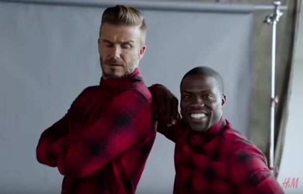 David Beckham x H&M campaign with Kevin Hart, September 2015