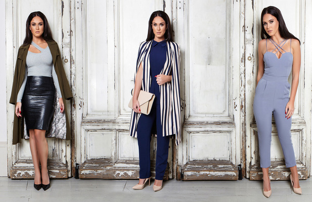 Vicky Pattison Honeyz clothing collection tartan shirt, 24th September 2015