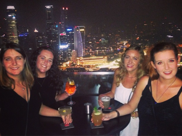At the top of the Marina Bay Hotel, Singapore. 24/9/15