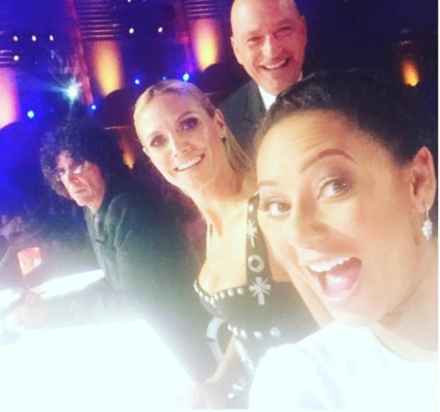 Mel B and her fellow America's Got Talent judges, 16 September 2015