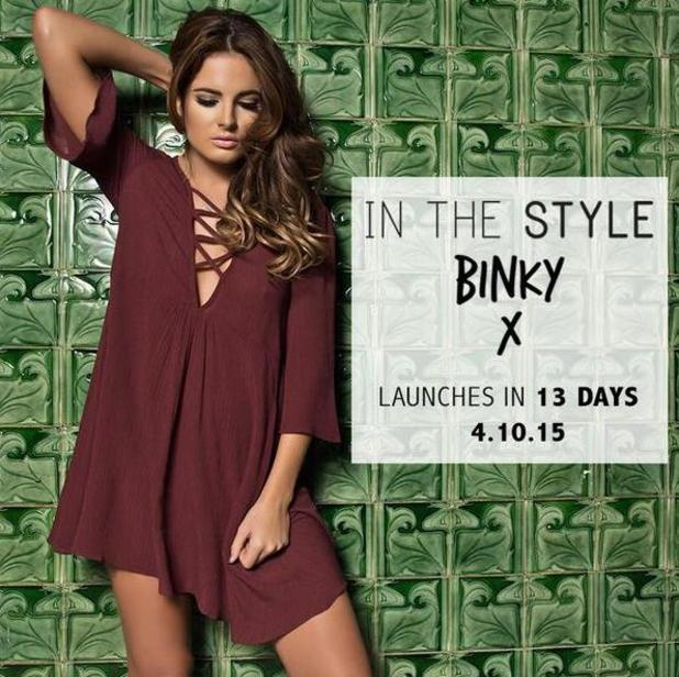 Made In Chelsea star Binky Felstead announces fashion collaboration with InTheStyle - 21 September 2015.
